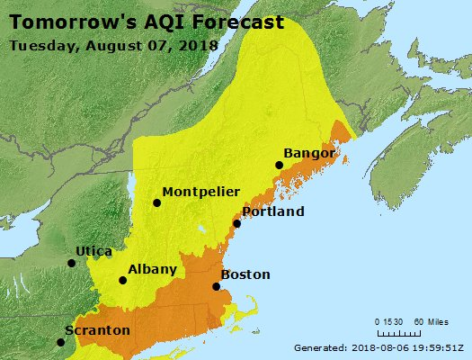 Poor Air Quality Expected on Tuesday