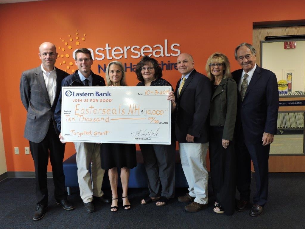 Easterseals Receives $10,000 from Eastern Bank