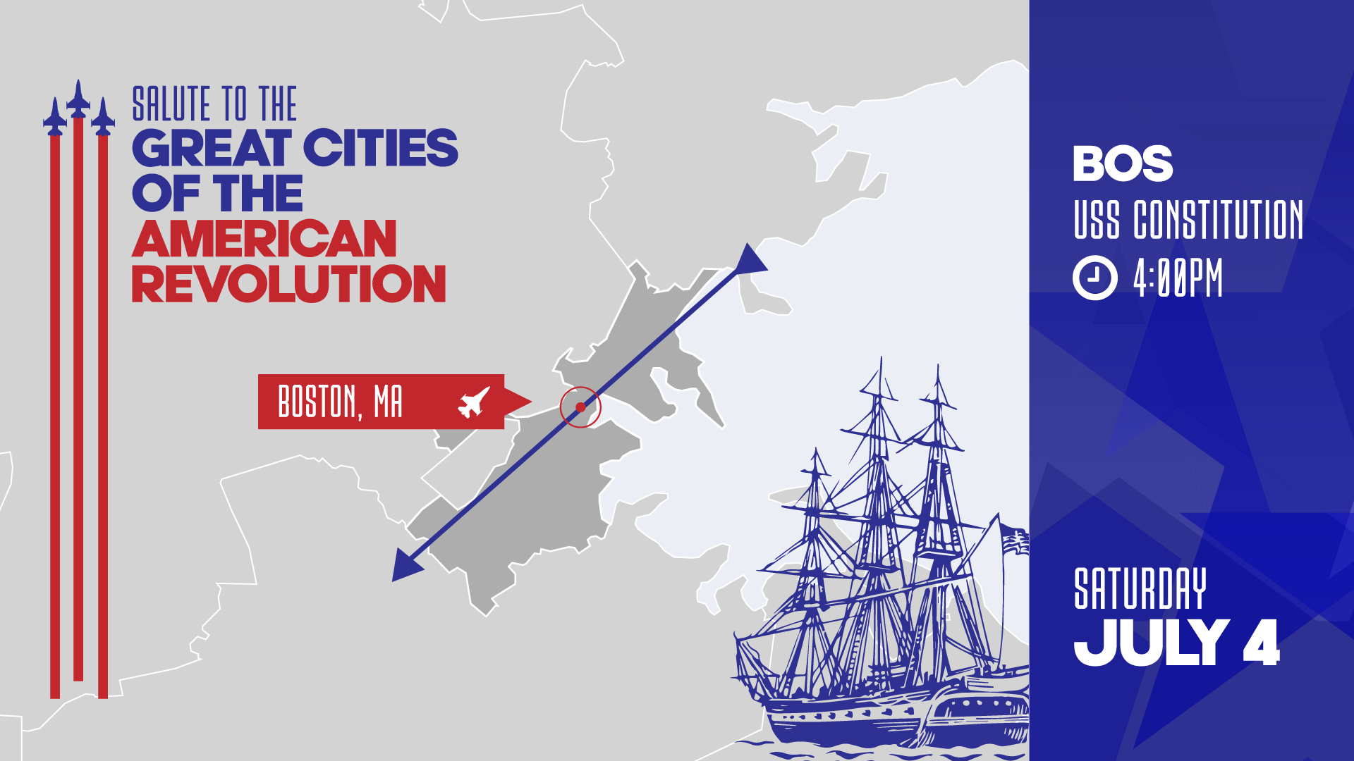 Salute to Great Cities of the American Revolution