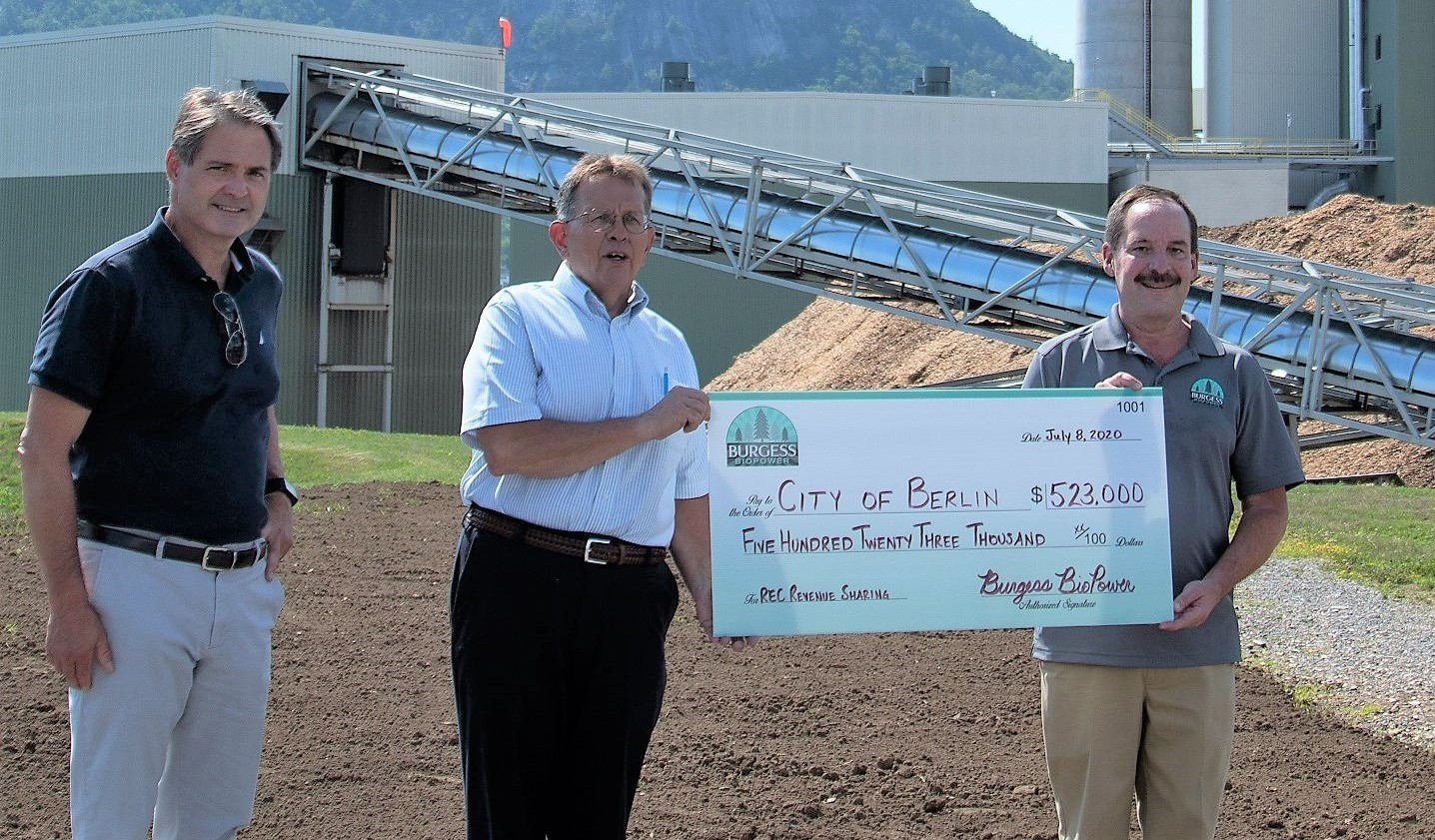 Burgess Shares Renewable Energy Revenue with Berlin