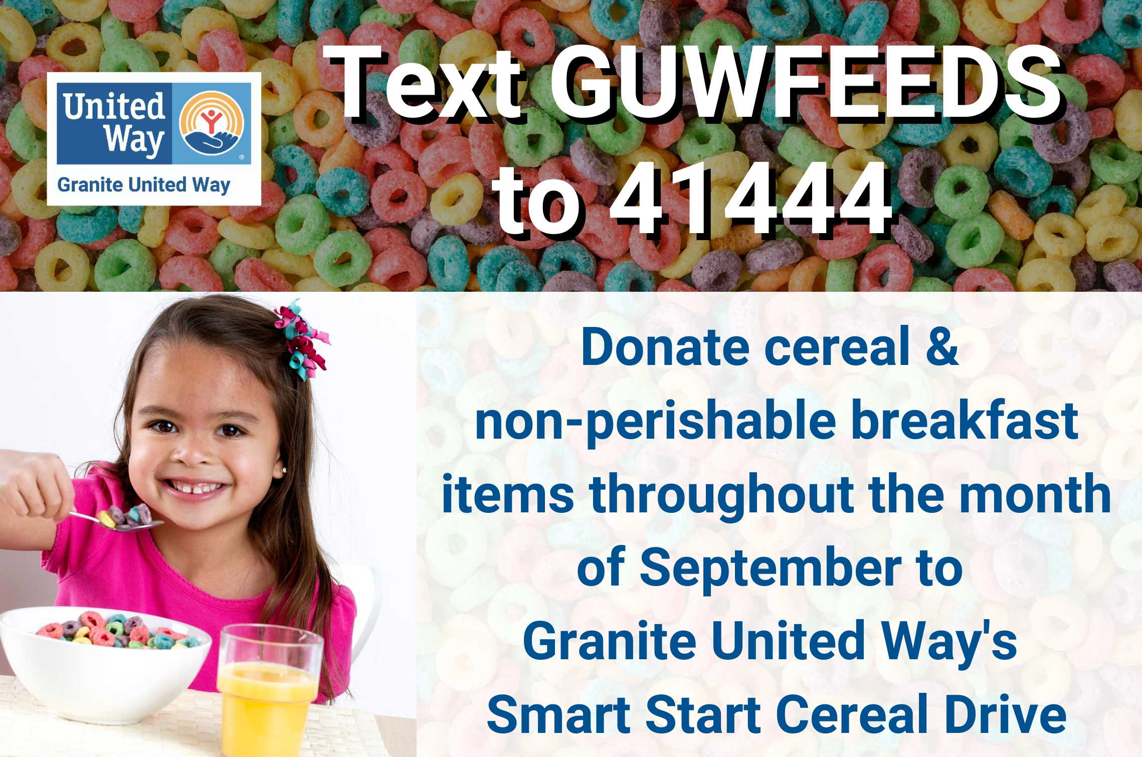 Granite United Way Launches Cereal Campaign