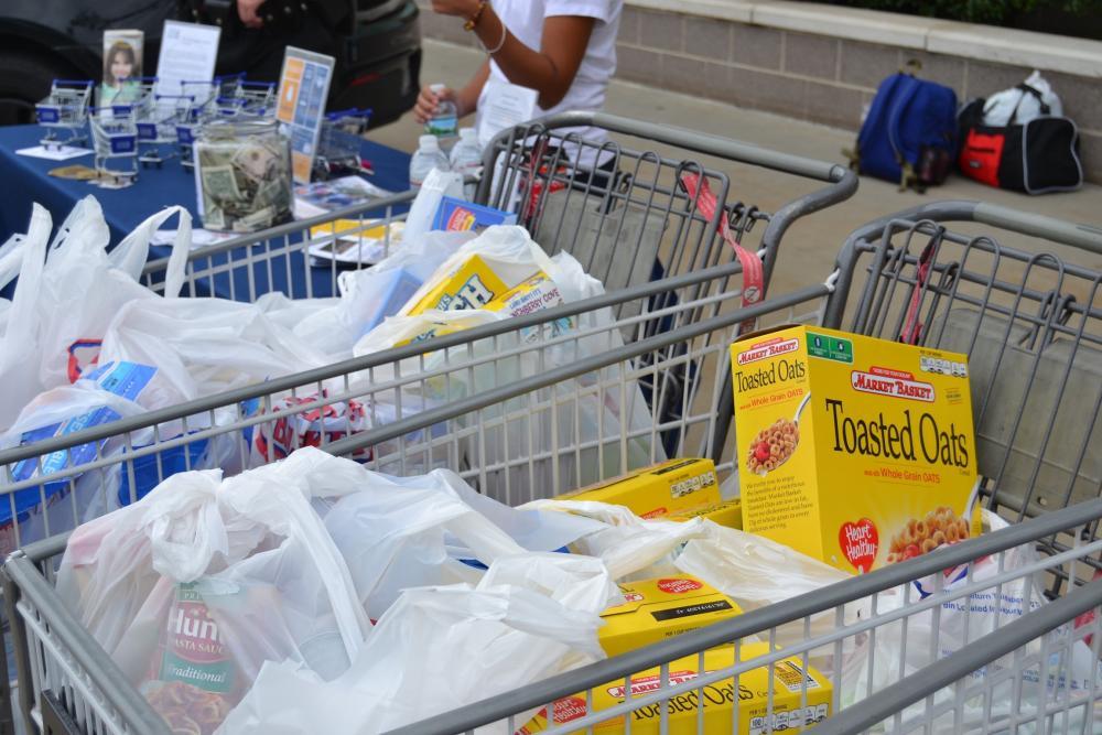 Cart of food