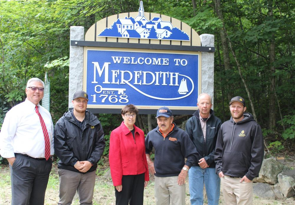 Meredith Welcome Sign