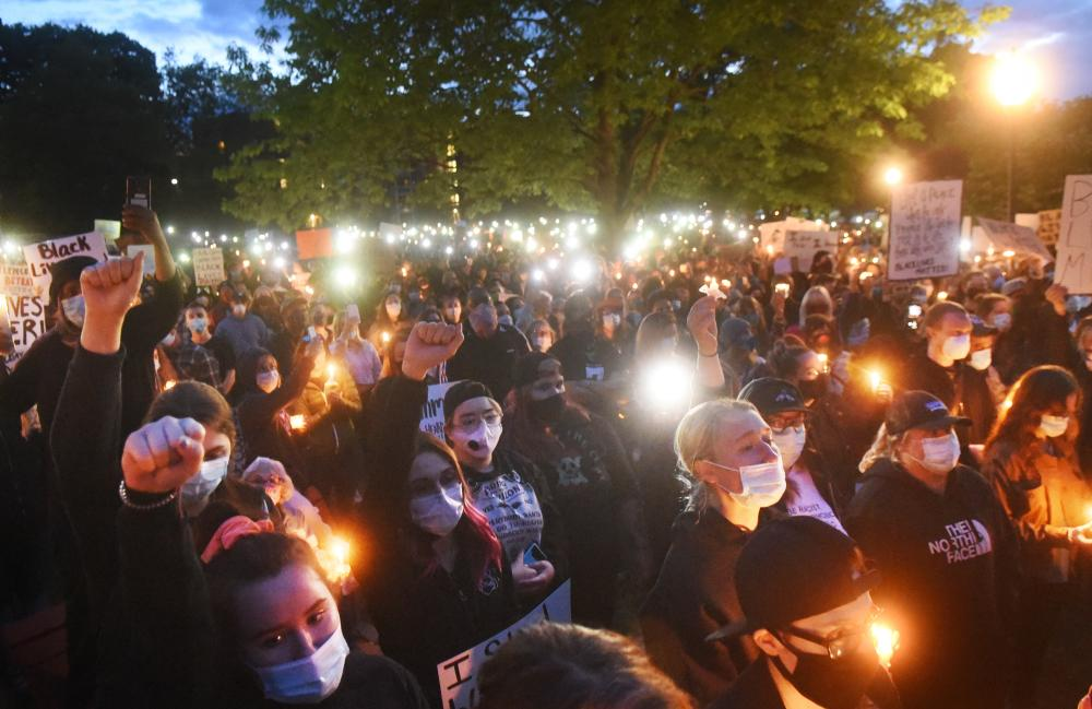 Project DREAM holds a candlelight vigil for George Floyd